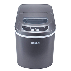 Della-Portable-Electric-Ice-Maker-Machine-Yield-Up-To-26-Pounds-of-Ice-Daily Silver