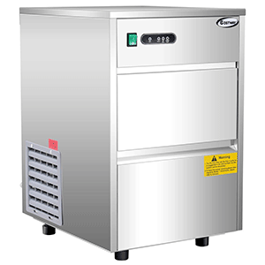 Costway-Stainless-Steel-Commercial-Automatic-Ice-Maker-Portable-Freestanding-Ice-Machine,-58LB-24h-(Silv